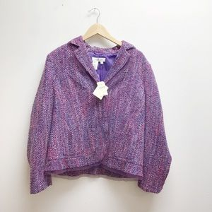 NWT Coldwater creek jacket large purple